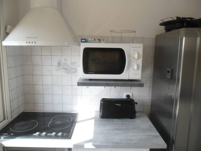 Location de vacances - Appartement à Six-Fours-les-Plages - plaque de cuisson micro onde