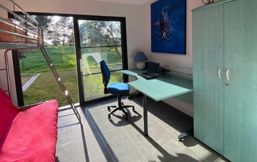 Location de vacances - Villa à Agay - bureau chambre d'appoint