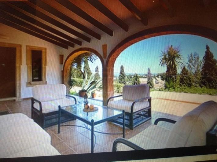 Location de vacances - Villa à Xàbia - TERRASSE DE LA MAISON PRINCIPALE