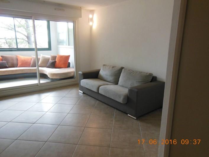 Location de vacances - Appartement à Bidart - Canapé lit 2 places dans salon