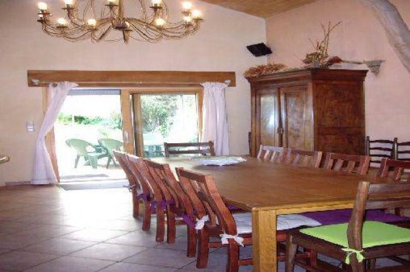 Location de vacances - Villa à Montdoumerc - Salle à manger dans séjour de 70 m2