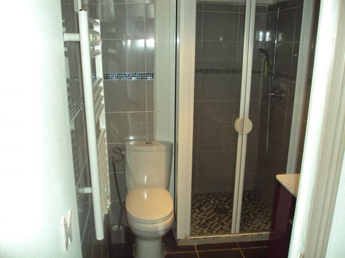 Location de vacances - Appartement à Antibes - la salle d'eau avec son WC