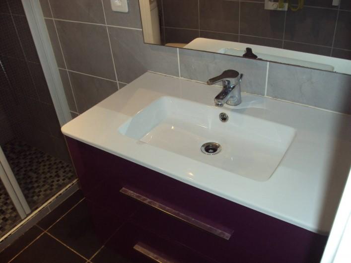 Location de vacances - Appartement à Antibes - autre vue de la salle d'eau