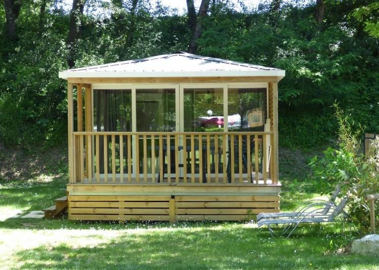 Location de vacances - Camping à Salavas - Mobil home Premium  4 personnes suréquipé