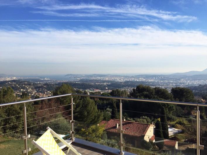 Location de vacances - Villa à Ollioules - vue sur la rade de Toulon