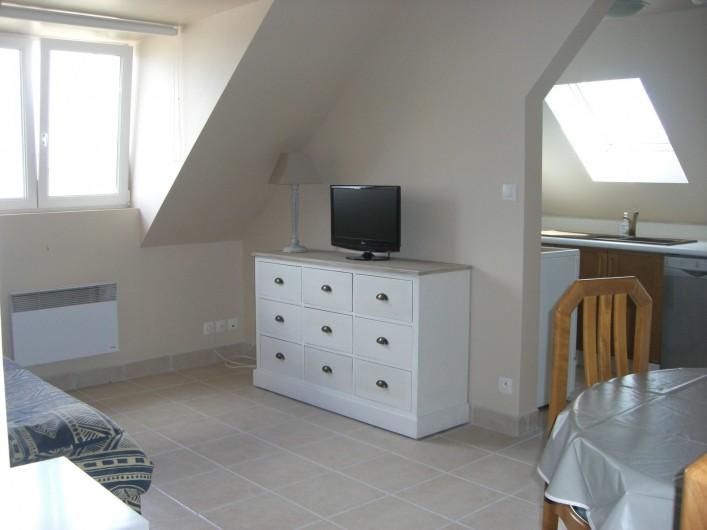 Location de vacances - Appartement à Merville-Franceville-Plage - Studio Salon, S.A.M. canapé lit 2 personnes