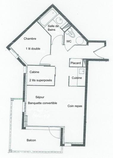 Location de vacances - Appartement à Vallandry - plan