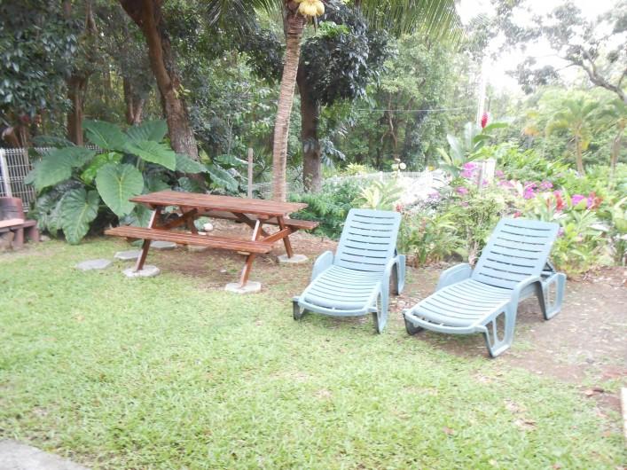 Location de vacances - Chalet à Deshaies - jardin privatif bungalow n°1