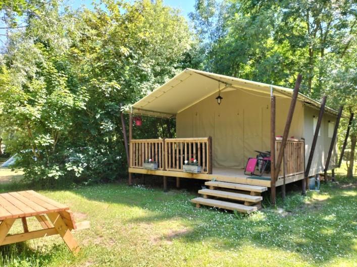 Location de vacances - Camping à Luçon - Coin repos Ecolodge