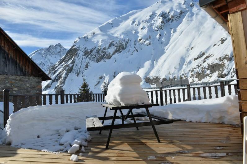 Location de vacances - Appartement à Valloire - terrasse privée