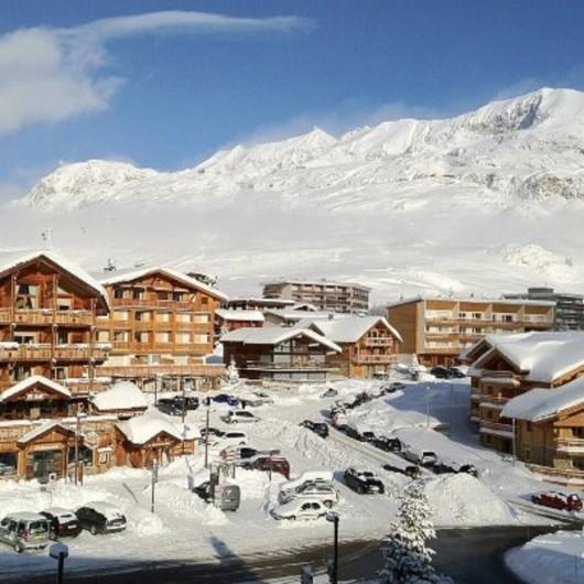 Location de vacances - Studio à L'Alpe d'Huez - vue de notre appartement