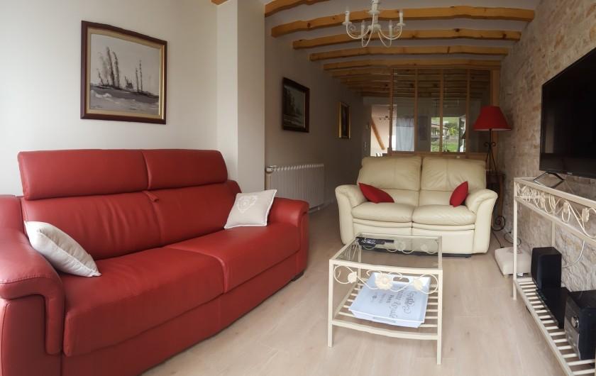 Location de vacances - Gîte à Médière - Salon (vue depuis le balcon)
