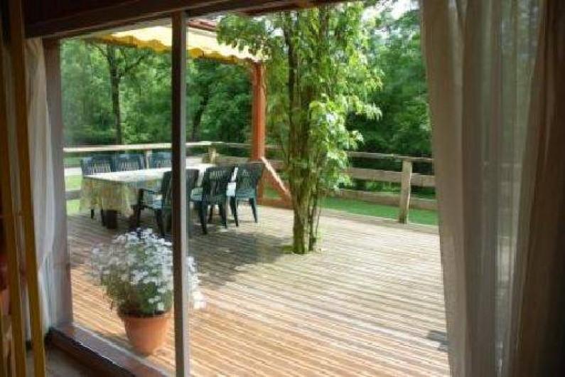Location de vacances - Chalet à Marigny - terrasse chalet de charme