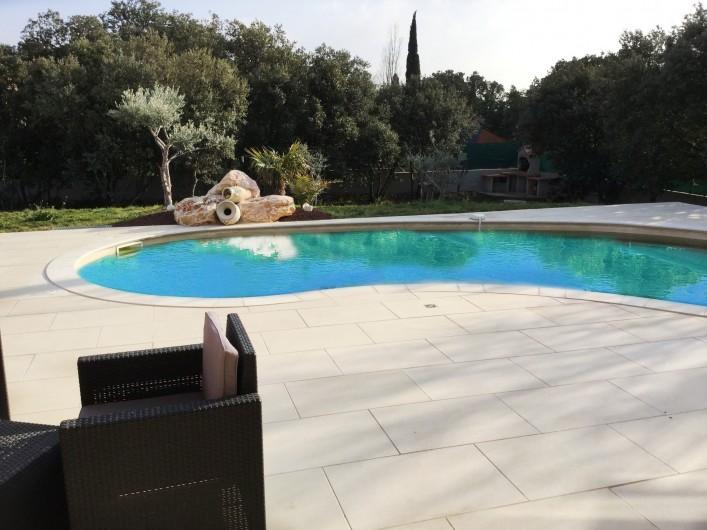 Location de vacances - Villa à Aureille - Coin piscine privée et chauffée