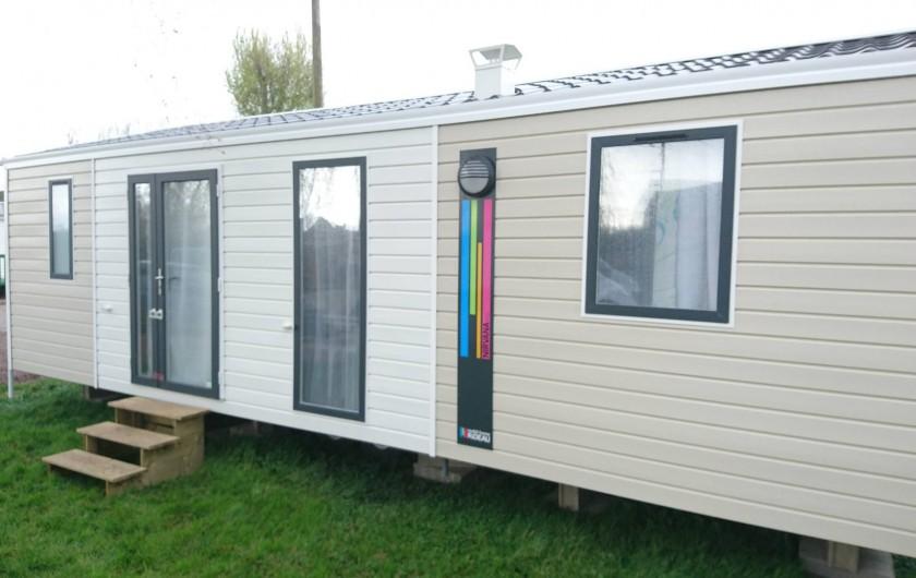 Location de vacances - Bungalow - Mobilhome à Aire-sur-la-Lys - Mobil-home Rideau NIRVANA Trio 3 chambres 6/8 personnes