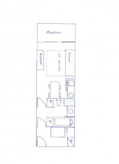 Location de vacances - Appartement à Méribel-Mottaret - plan appartement