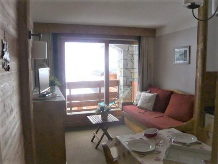 Location de vacances - Appartement à Méribel-Mottaret - vue partielle séjour