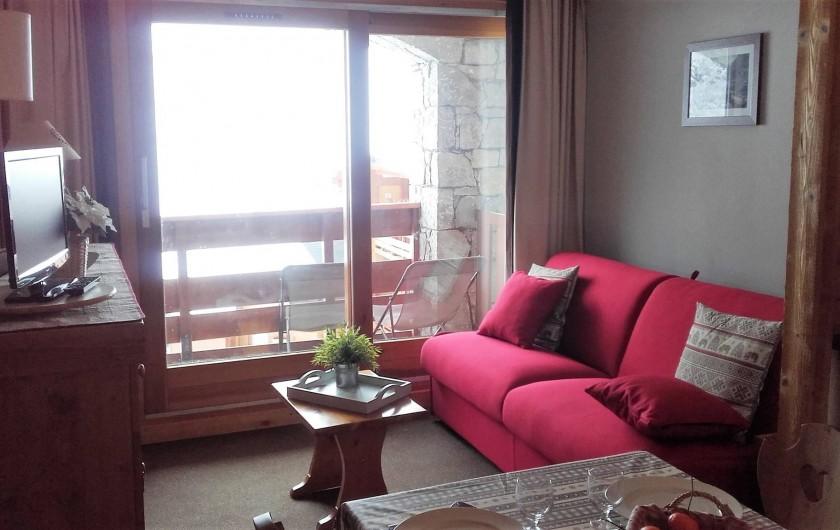 Location de vacances - Appartement à Méribel-Mottaret - coin salon