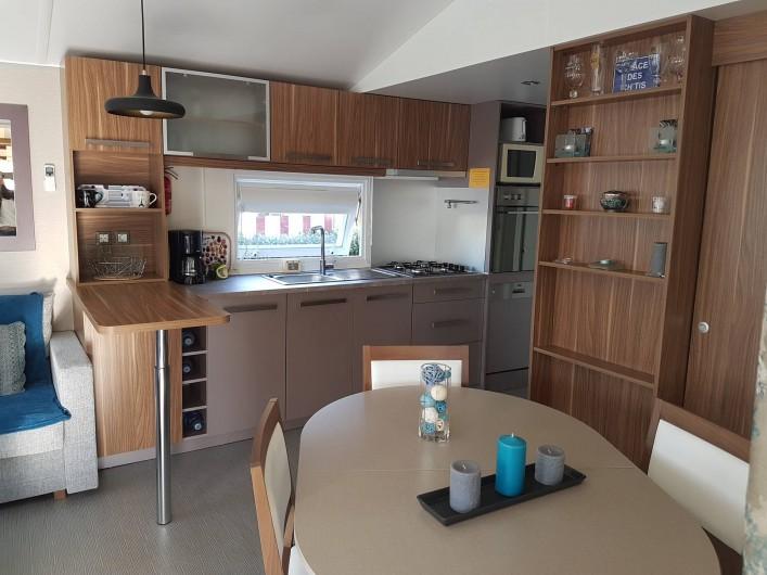 Location de vacances - Bungalow - Mobilhome à Gastes - VUE DE L'ENTRÉE
