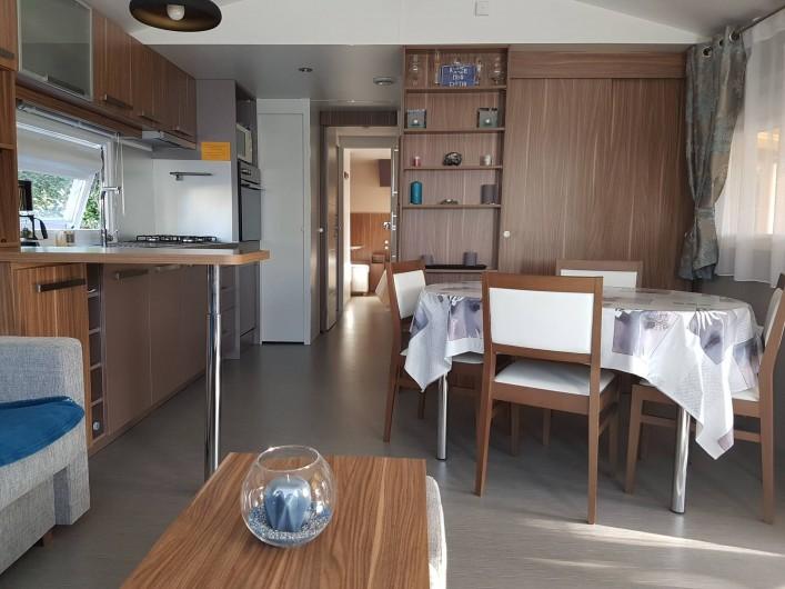 Location de vacances - Bungalow - Mobilhome à Gastes - VUE DU SALON