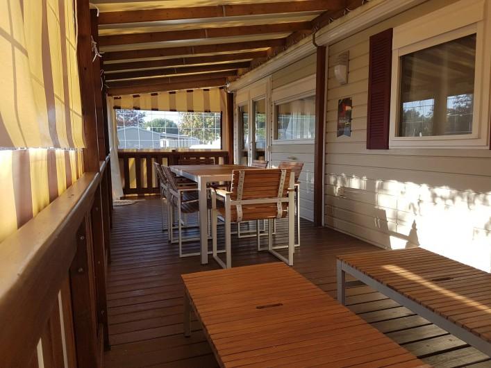 Location de vacances - Bungalow - Mobilhome à Gastes - TERRASSE FERMÉE
