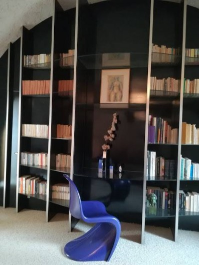 Location de vacances - Gîte à Saint-Georges-sur-Baulche - Bibliothèque, chambre du haut