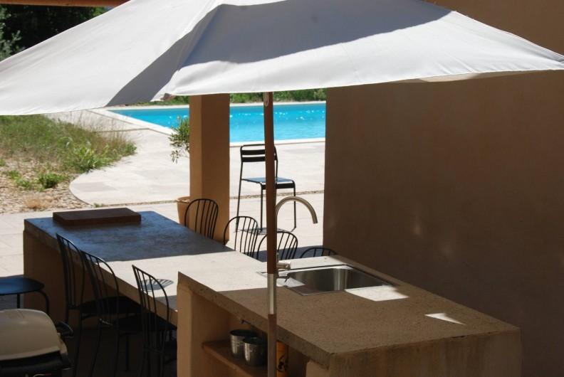 Location de vacances - Mas à Bédoin - Cuisine d'été