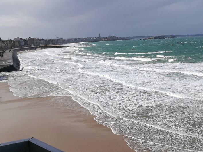 Location de vacances - Appartement à Saint-Malo - Plage - Grande marée