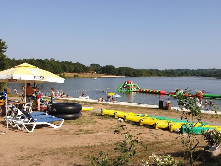 Location de vacances - Camping à Pressignac - Plage