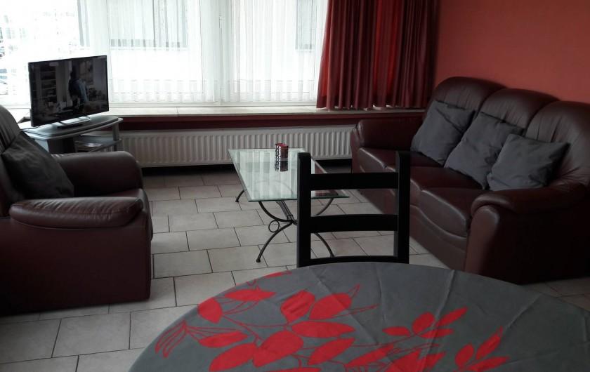 Location de vacances - Appartement à Blankenberge - living côté salon