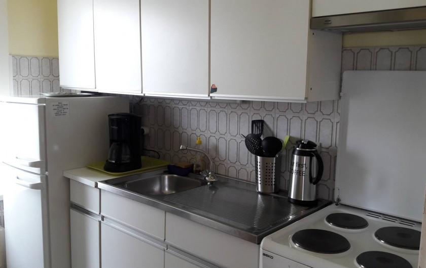 Location de vacances - Appartement à Blankenberge - vue de droite cuisine