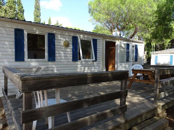 Location de vacances - Bungalow - Mobilhome à Salses-le-Château - emplacement 26 Mobil Home 3 chambres