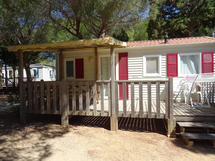 Location de vacances - Bungalow - Mobilhome à Salses-le-Château - emplacement 17  Mobil Home 2 chambres