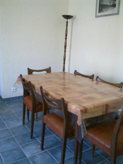 Location de vacances - Chambre d'hôtes à Chassagnes - Gîte : coin repas