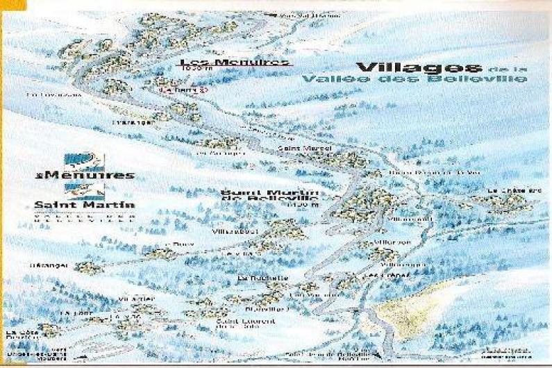 Location de vacances - Chalet à Les Menuires - Plan station