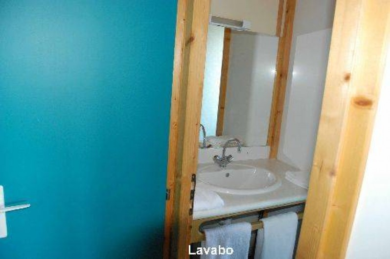 Location de vacances - Chalet à Blavignac - Le lavabo de la salle d'eau