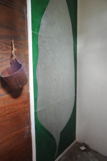 Location de vacances - Chalet à Le Cap Ferret - Décor en fixé sous verre pour la chambre du bas .