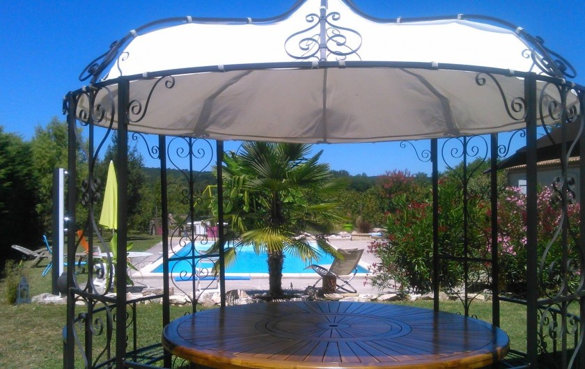 Location de vacances - Chambre d'hôtes à Castelnau-de-Montmiral - côté piscine à partager avec les hôtes