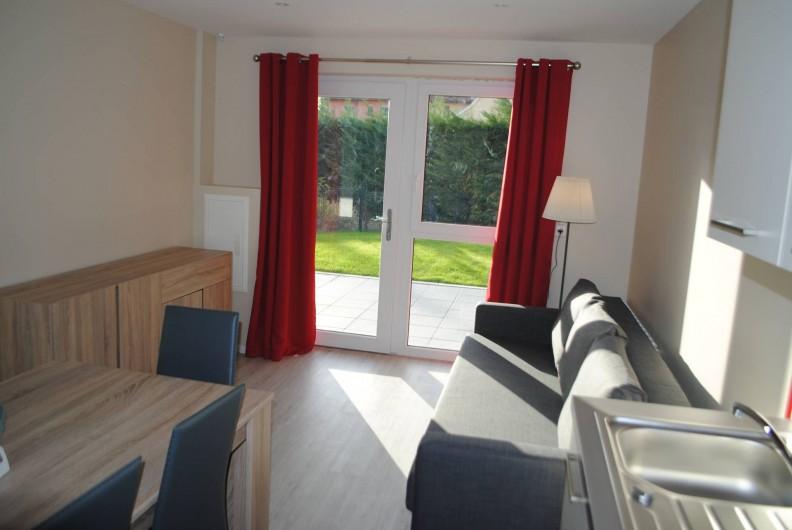Location de vacances - Appartement à Colmar - coin salon appartement