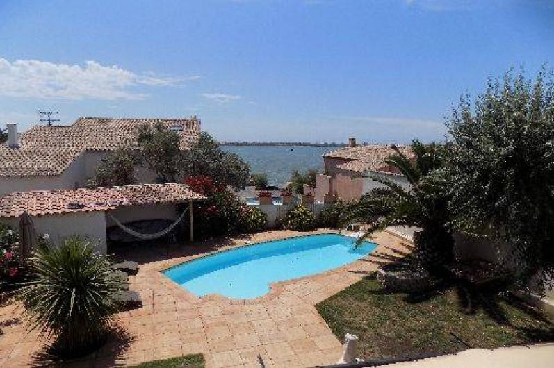 Location de vacances - Villa à Pérols - piscine vue 1er étage