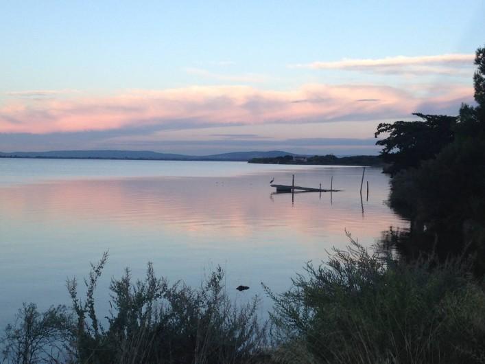 Location de vacances - Villa à Pérols - étang au crépuscule