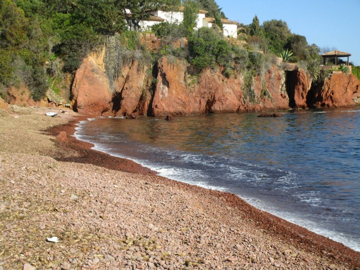 Location de vacances - Villa à Anthéor - Calanque située à 600 m de la maison.