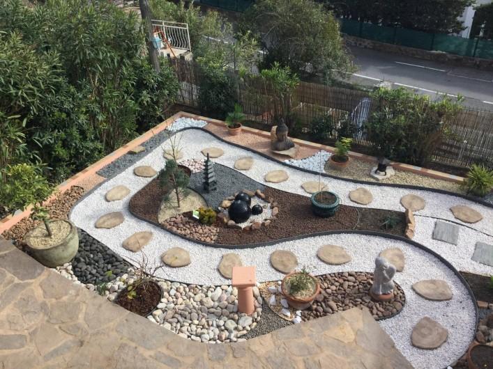 Location de vacances - Villa à Anthéor - Vue sur le jardin Zen
