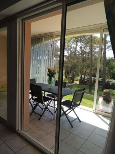 Location de vacances - Appartement à Moliets-et-Maa - Véranda terrasse