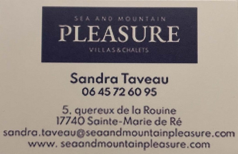 Location de vacances - Villa à Sainte-Marie-de-Ré - location de villa île de ré et chalet -alpe d'huez