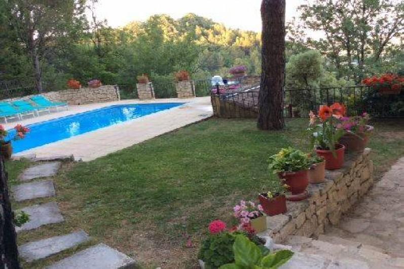 Location de vacances - Appartement à Le Teil - Pelouse pres de la piscine