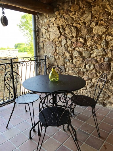 Location de vacances - Mas à Sécheras - Petite terrasse