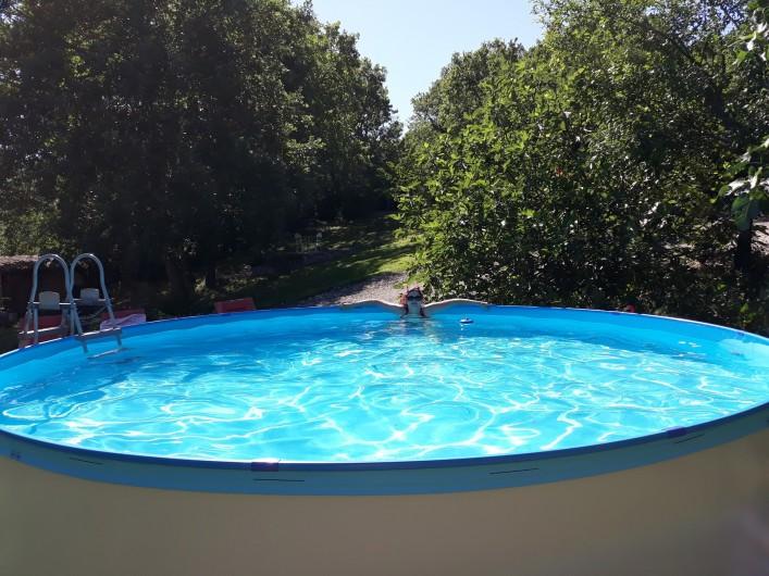 Location de vacances - Chambre d'hôtes à Saint-Sozy - Petite Piscine hors sol