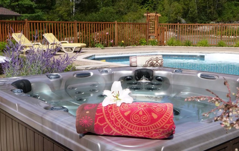 Location de vacances - Chalet à Val-David - Jacuzzi - Piscine