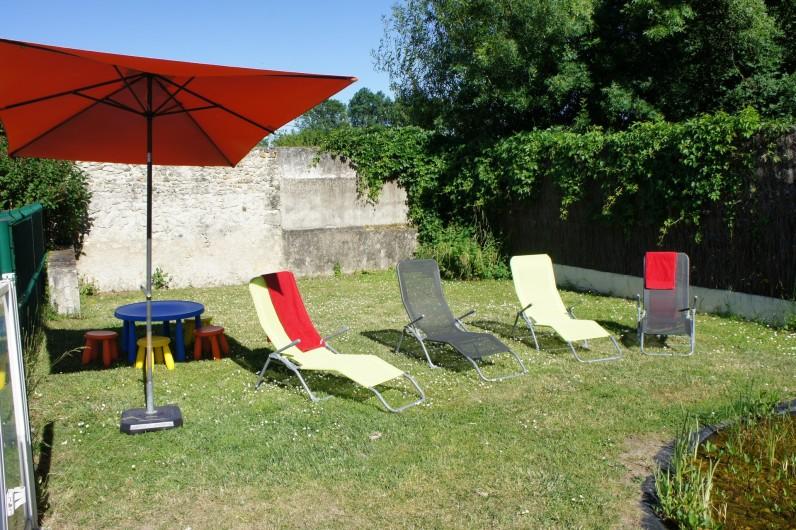 Location de vacances - Gîte à Noizay - JARDIN